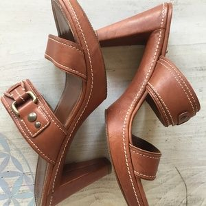 Coach leather sandals size 10B